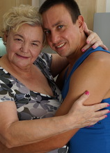 Curvy Granny Having Fun With Her Toy Boy In The Kitchen