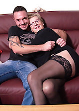 German Grandma Doing A Toyboy Younger Than Her Son