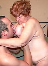 Hot Grandma Fucked Between Tits