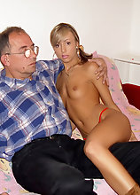Hot Blonde Teen Sucking And Fucking An Old Dude