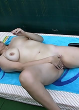 Brunette Mature Slut Playing With Her Toys