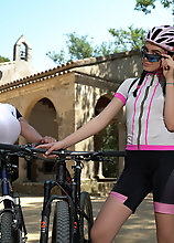 These Old And Young Lesbians Ride Bikes And Lick Pussy In Public